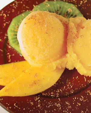 4-Ingredients Orange Sorbet