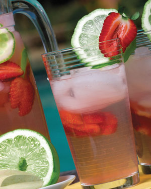 Strawberry-Pineapple Limeade Cooler